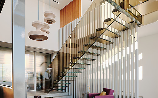 Design Stairs In Glass Wood Steel And Corian By Siller Siller Stairs