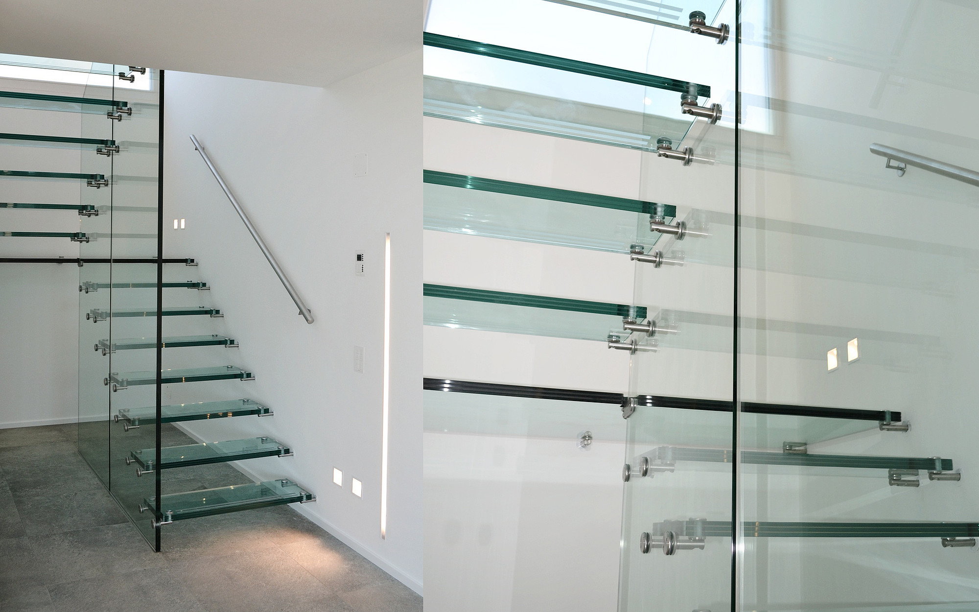 Glass Wall Staircase Siller Stairs